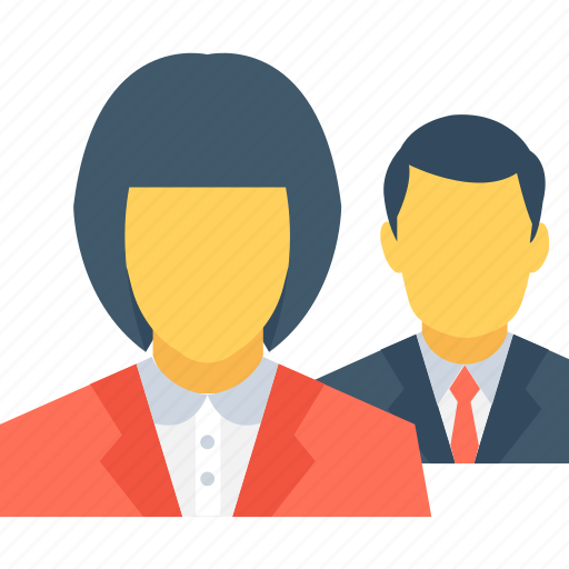 business persons, community, leader, person, team icon