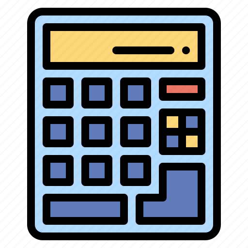 calculating, calculator, education, maths, technology icon