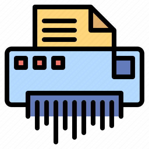 destroyer, document, material, office, security, shredder icon