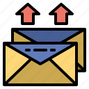 communications, email, envelope, interface, mail, mails, messege icon