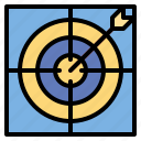 archer, arrow, competition, objective, sport, target icon