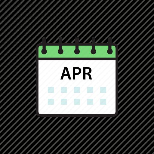 apr, april, calendar, month icon