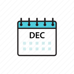 calendar, dec, december, month icon