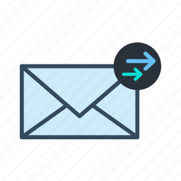 email, forward, mail icon