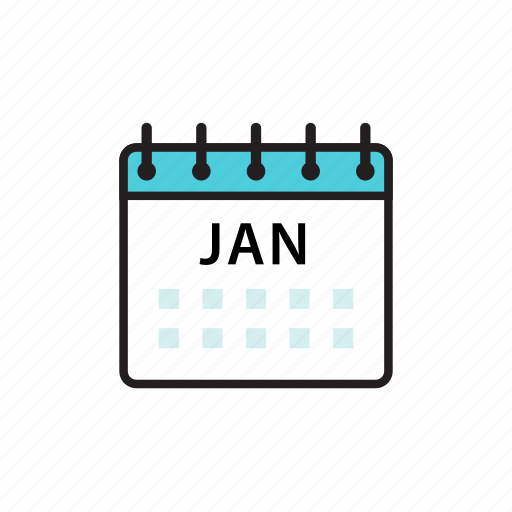 calendar, jan, january, month icon