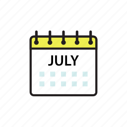 calendar, jul, july, month icon