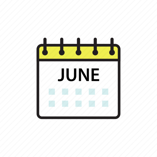 calendar, jun, june, month icon