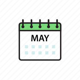 calendar, may, month icon