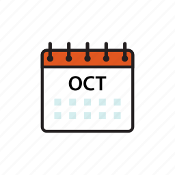 calendar, month, oct, october icon