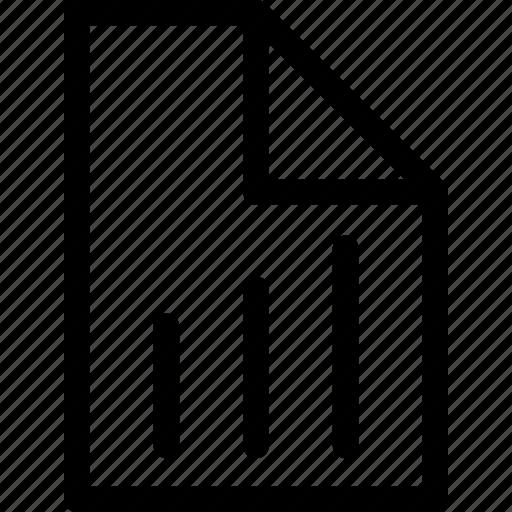 analytics, chart, document, graph, report, statistics icon