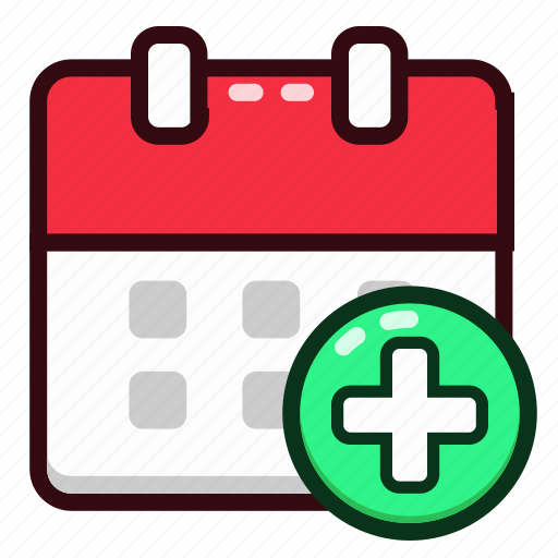 add, calendar, date, day, event, new, schedule icon