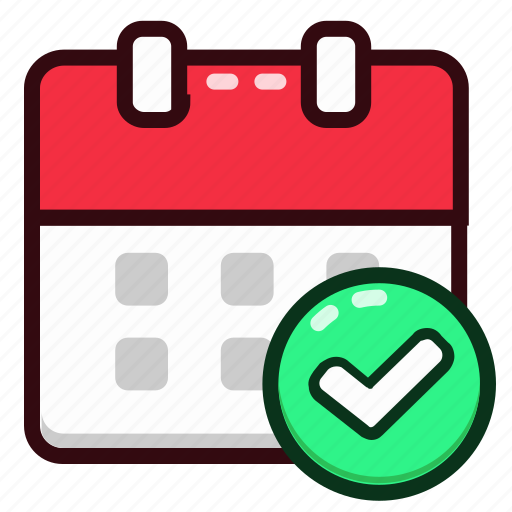 approve, calendar, date, day, event, month, schedule icon