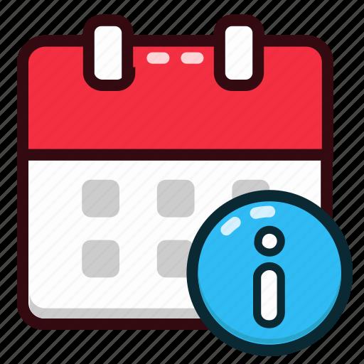 calendar, date, day, event, info, information, schedule icon