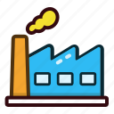 building, construction, factory, industrial, industry icon