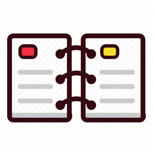 addressbook, notebook, notepad, notes icon