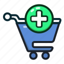 add, buy, cart, new, plus, shopping, shoppingcart icon