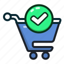 shoppingcart, approve, buy, shopping, ecommerce, cart, approved