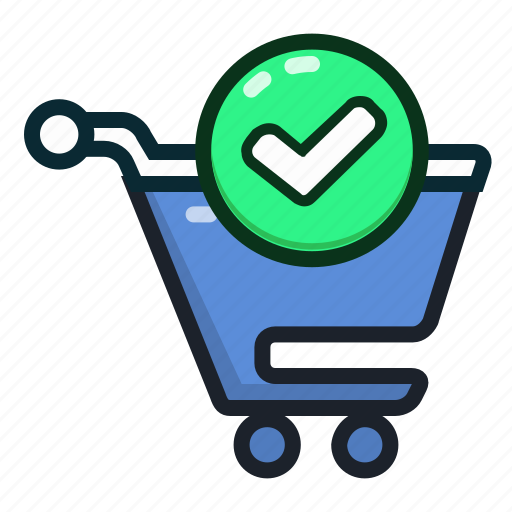 approve, approved, buy, cart, ecommerce, shopping, shoppingcart icon