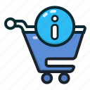 buy, cart, info, shopping, shoppingcart icon