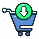 buy, cart, ecommerce, insert, shopping, shoppingcart icon