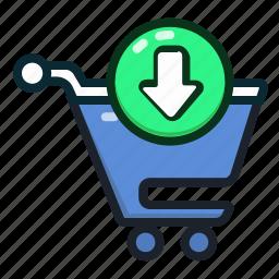 buy, cart, ecommerce, insert, shopping, shoppingcart icon