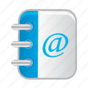 address, adress, book, bookmark, notebook icon