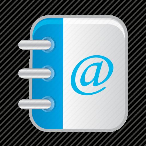 address, adress, book, bookmark, notebook icon