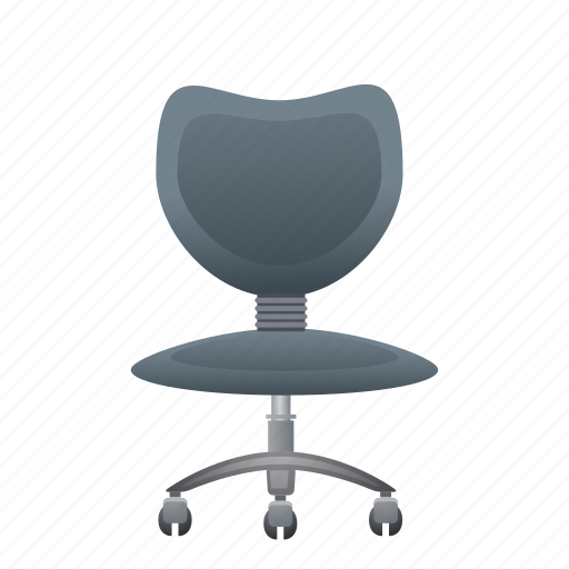 chair, furniture, interior, office, work icon