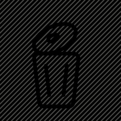basket, can, garbage, office, trash, trash bin icon