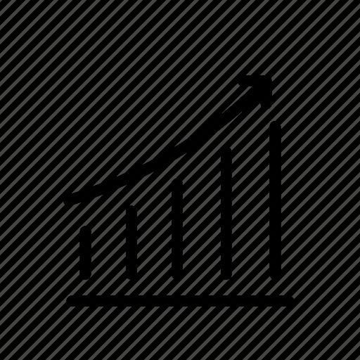 Arrow Diagram Grow Up Index Office Statistics Icon