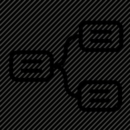 block scheme, business, business plan, office, scheme icon
