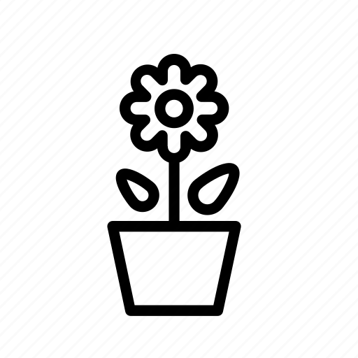 flower, grow, office, office plant, plant, potted plant icon