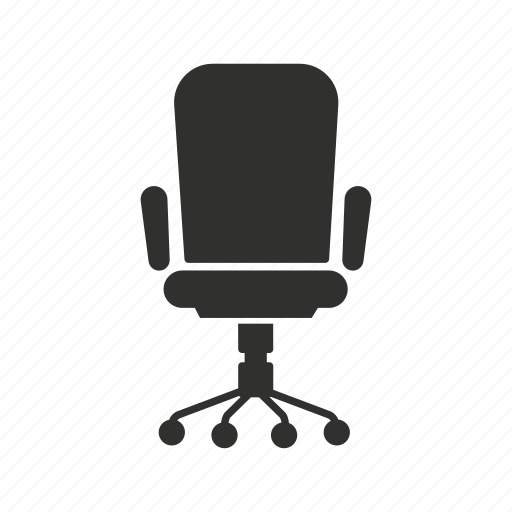 chair, furniture, office, office chair icon