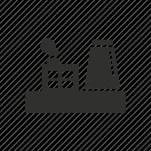 building, estate, factory, industrial building icon