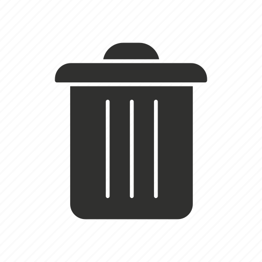 delete, eraser, trash bin, trash can icon