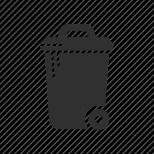 delte, eraser, trash bin, trash can icon