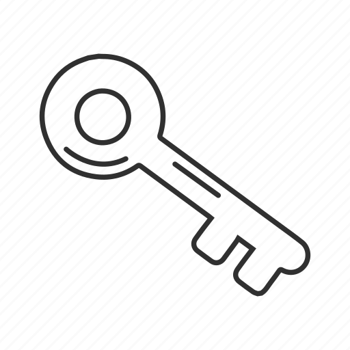 ancient key, antique key, key, key lock, keys, lock, old key icon