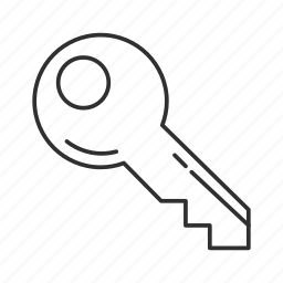 car key, circle key, house key, key, keys, office key, one key icon