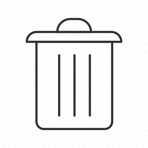 garbage, garbage bin, garbage can, throw away, trash, trash can, trashcan icon
