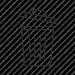 garbage, garbage bin, garbage can, throw away, trash, trash can, trashcan icon