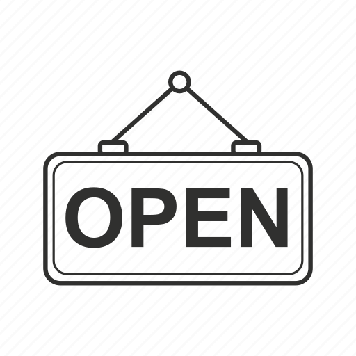 now open, now open sign, open, open now, open sign, sign icon