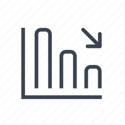 bar, business, chart, decrease, graph icon