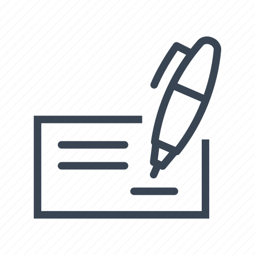 bank, business, check, finance, payment icon
