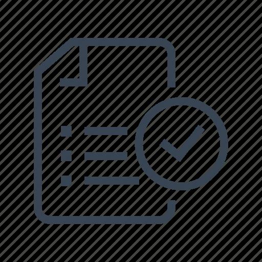 check, document, file, list icon