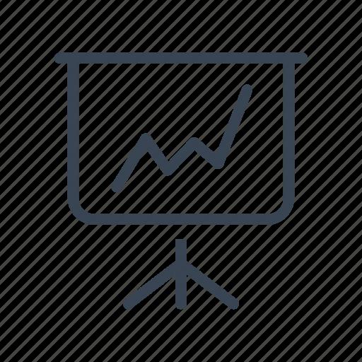analysis, business, graph, presentation icon