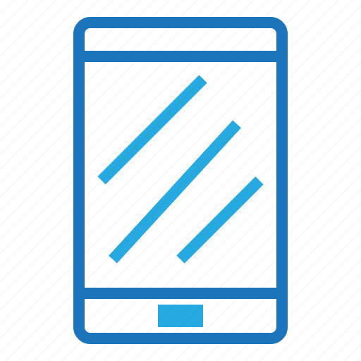 blue, document, format, office, smart phone icon