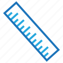 blue, business, internet, marketing, office, ruler icon