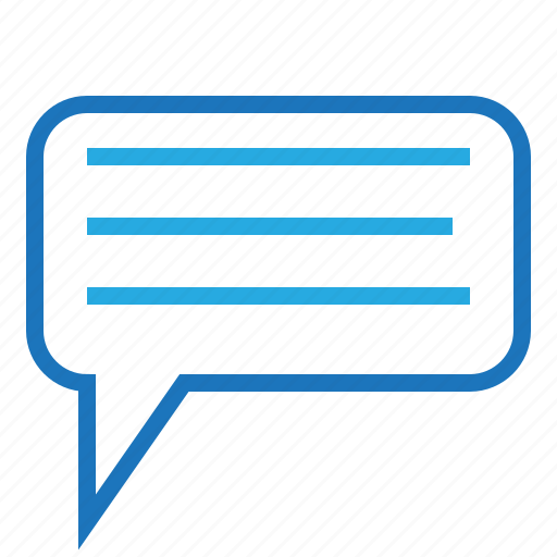 blue, business, chat, communication, office, online, talk icon