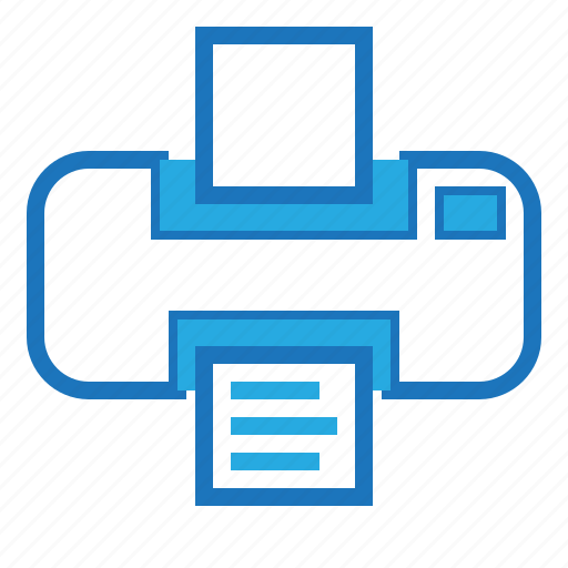blue, document, office, paper, print icon