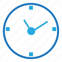 blue, business, clock, document, marketing, office, seo icon